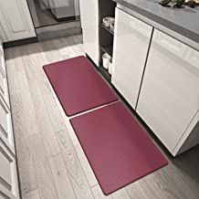 DEXI Kitchen Rugs and Mats Cushioned Anti Fatigue Comfort Runner Mat for Floor Rug Waterproof Standing Rugs Small Set of ...