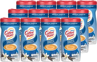 Nestle Coffee mate Coffee Creamer, French Vanilla, Powder Creamer, 15 Ounces (Pack of 12)