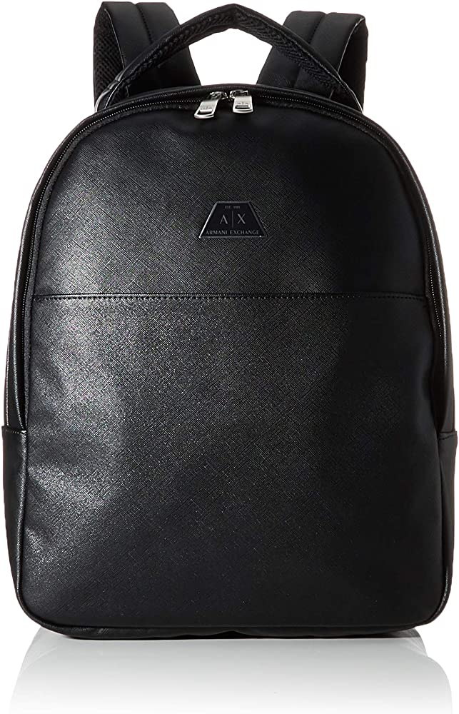 Armani exchange, backpack with handle, zaino,in ecopelle 952083CC523