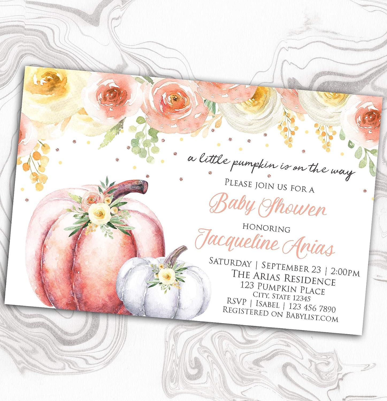 OFFer Autumn Baby Shower Invitation - Sprink Little Our Ranking TOP6 Pumpkin