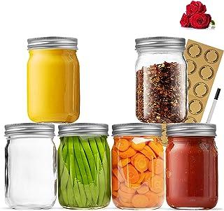 Mason Jars 12OZ, LovoIn 12 OZ Canning Jars Jelly Jars With Regular Lids