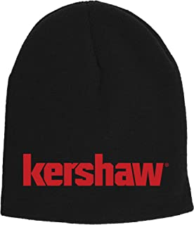 Kershaw Two-in-One Beanie (BEANIEKER18); Made of Comfortable 100% Knitted Acrylic Material; Reversible Black Exterior with...