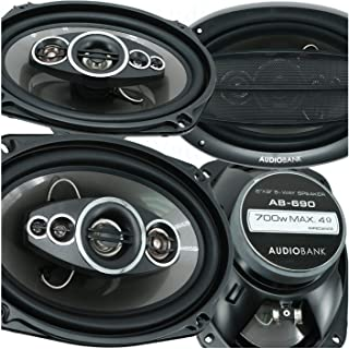 "$61 » 4X Audiobank AB-690 6""x9"" 5-Way Car Audio Stereo Coaxial Speakers 1400 Watts Peak Power Handling All Speakers with 4 Ohms ..."