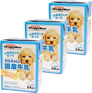 ドギーマン わんちゃんの国産牛乳 全犬種用 200mlx3個入り(まとめ買い)