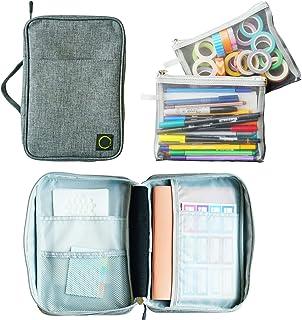 Journal Supplies Storage Case (Gray - Medium) - Custom Travel Organizer Holder for A5 Planner, Pens, Journal Supplies and ... photo