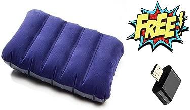 HARLLYCTION Soft Velvet Air Pillow (Blue) with OTG