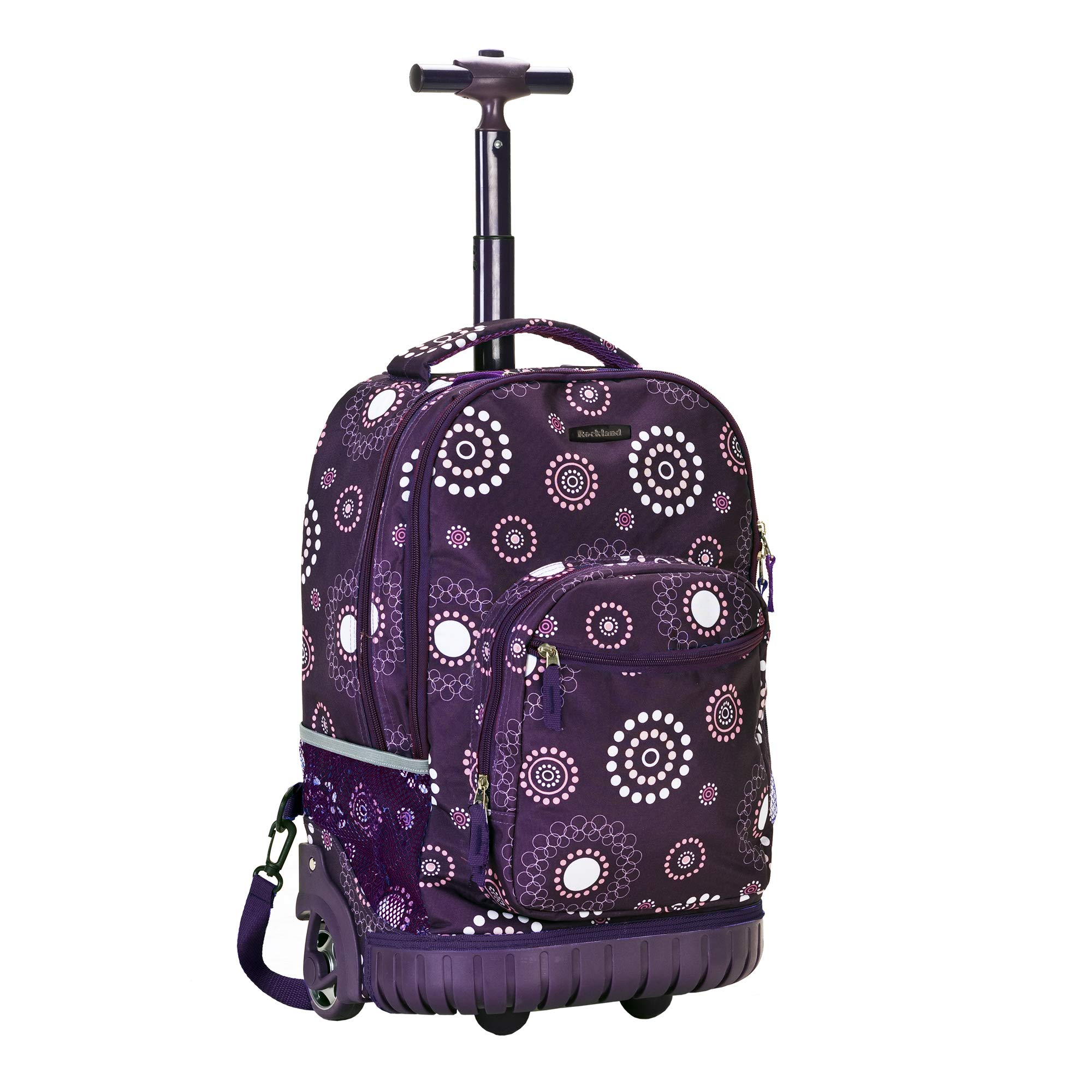 Rockland Luggage Rolling Backpack Printed