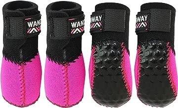 [WANDAWAY × docdog] 小型犬用靴 Fuka Fuka Fit Dog boots (ふかふかフィットドッグブーツ) 4個入り ピンク