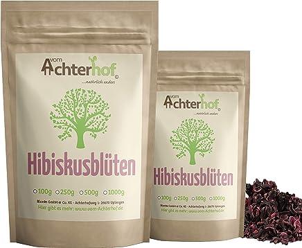 1.000g Hibiskusblüten ganz - Hibiskustee Spitzenqualität natürlich vom Achterhof Hibiskus Tee