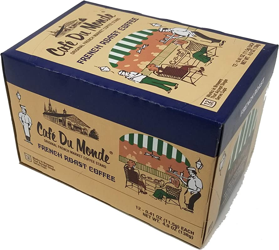 Cafe Du Monde Coffee French Roast Single Serve Cup Pods 12 Count