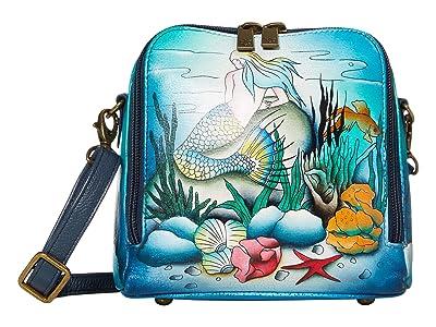 Anuschka Handbags Zip Around Travel Organizer 668 (Little Mermaid) Handbags