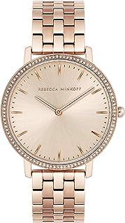 Rebecca Minkoff Women's Quartz Watch with Stainless Steel Strap, Carnation, 16 (Model: 2200349)