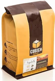 Ethiopia Yirgacheffe Coffee - Whole Bean Coffee - Freshly Roasted Coffee - Cubico Coffee - 16 Ounce (Single Origin Ethiopian Coffee)
