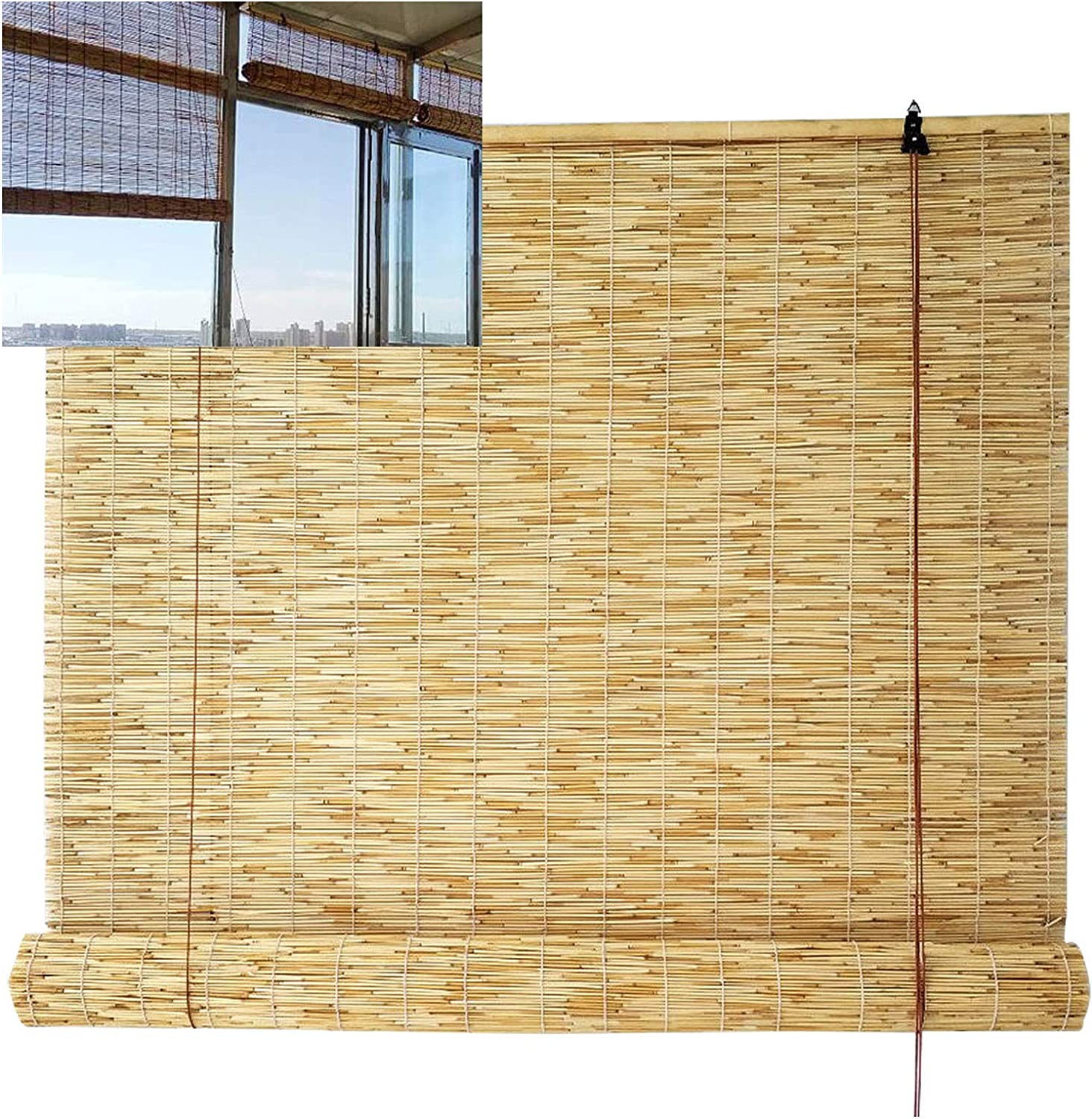 Bamboo Blind Shades - Special price for a limited time Light Window Filterin Dedication Roller