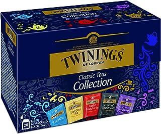 Twinings Selection Schwarztee Teebox, Eine delikate Auslese von Schwarztee Mischungen  Earl Grey, Lady Grey, Darjeeling, English Breakfast, Prince of Wales Tea 8er Pack 8 x 40 g