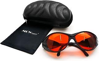 MCWlaser Laser Safty Protective Goggles Glasses 190-540nm Typical for 355nm 405nm 445nm 447nm 450nm 460nm 473nm 515nm 520n...