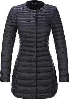 Bellivera Womens Lightweight Hooded Packable Ultra Puffer Short Jacket