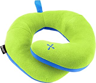 BCOZZY Kids Chin Supporting Patented Travel Pillow - Keeps The Child's Head from Bobbing up and Down in car Rides, Providing Comfort and Support for The Neck and Head. Child Size (Apple-Green)