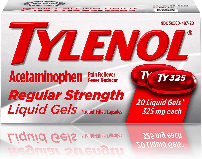 Tylenol Regular San Max 87% OFF Antonio Mall Strength Liquid Gels with P 325 Acetaminophen mg