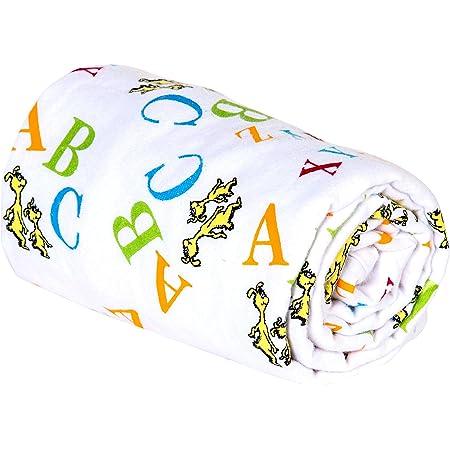 Free Shipping Dr Seuss Alphabet ABCs Baby Toddler Throw Lap Quilt Blue Yellow