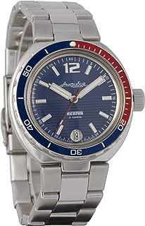 Vostok Neptune Amphibian Collection Automatic Mens Wristwatch Self-Winding Military Diver Amphibia Case Wrist Watch