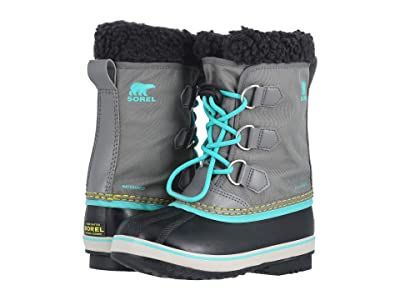 SOREL Kids Yoot Pac Nylon (Little Kid/Big Kid) (Quarry/Dolphin 1) Girls Shoes