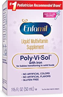 Enfamil 美赞臣 Poly-Vi-Sol 多种维生素补充剂 含铁 50ml