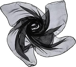 1950s Chiffon Scarf Retro Hair Tie 50s Sheer Square Neck Head Scarf Solid Color Vintage Neckerchief for Women Girls