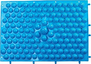 My Life My Shop Sole Relief Reflexology Lightweight Foot Massage Mat - Pressure Point Massager Bumps for Feet, Blue