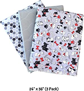 Caldwell's Potty Pads: Washable, Reusable, Leakproof, Absorbant Dog Pee Pads, Housebreaking/Training/Travel/Crate/Kennel/Whelping/Senior Care/Apartment Living