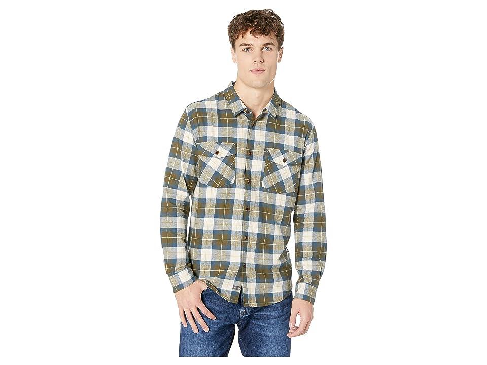 Quiksilver Waterman Wade Creek Long Sleeve Flannel Shirt (Ivy Green) Men