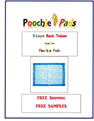 Poochie Pads 300ct 17x24 3-Ply Basic Training Economy for up to 10lb Dogs Free Samples/