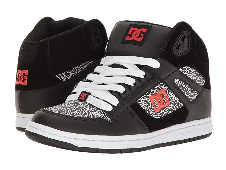 DC Rebound High SE (Black/Red/White) Women