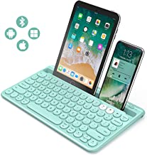 Bluetooth Keyboard, Jelly Comb Multi-Device Universal Bluetooth Rechargeable Keyboard with Integrated Stand for iPad Table...