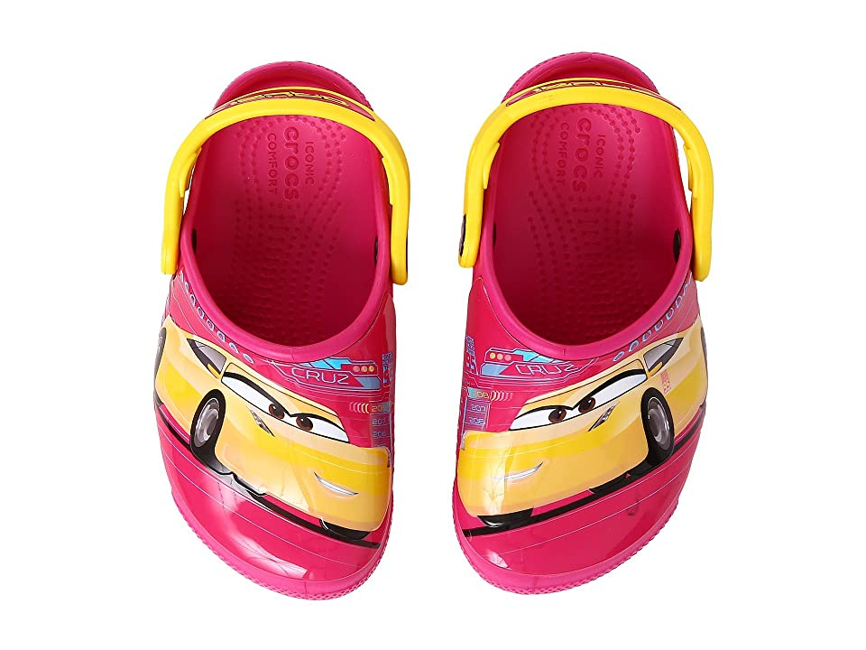 Crocs Kids CrocsFunLab Lights Cars 3 (Toddler/Little Kid) (Candy Pink) Kid