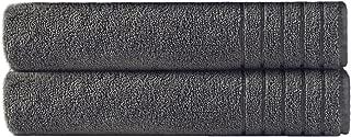 COTTON CRAFT - Super Zero Twist 2 Pack Oversized Bath Sheet Set 35x70 - Charcoal - 7 Star Hotel Collection Beyond Luxury Softer Than A Cloud - 100% Pure Super Zero Twist Cotton