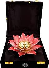 Indian Art Villa Lotus Design Diya Deepak; Home Decor; Pooja Purpose; 8 Inch; Pink