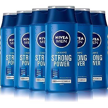 NIVEA MEN Strong Power Champú para hombre, para dar volumen y ...