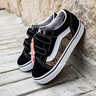 7518bf75944 Vans Old Skool x Gucci Custom Handmade Uni-Sex Toddlers Shoes By Patch  Collection