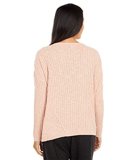 Eileen Fisher Organic-Linen /& Cotton Slubbed V-Neck Sweater Tunic New