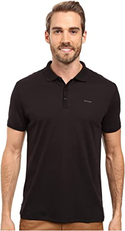 Liquid Cotton Solid Short Sleeve Polo