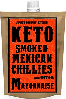 Jimmy's Gourmet Kitchen Keto Mayonnaise Smoked Mexican Chilies, 10.6g Fat, 1.66g Carbs, Keto - Vegan - Gluten Free, 225g