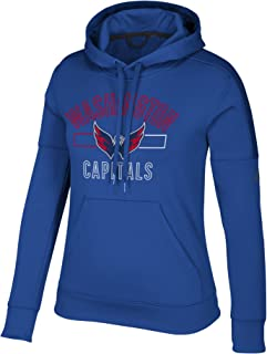 adidas Washington Capitals NHL Women's Open Box Stack Blue Climawarm Pullover Training Hoodie