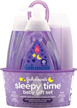 Johnson's Sleepy Time Baby Gift Set with Relaxing NaturalCalm Aromas, Bedtime..