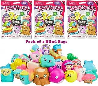 Squish-Dee-Lish Series 3 Slow Rise Blind Bag Figure, Pack of 3