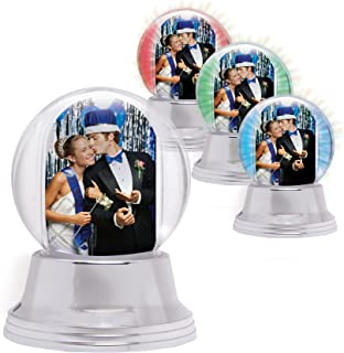 Neil Enterprises LED Light Up Photo Snow Globe (Silver, Mini)