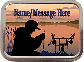 Personalised Carp Fishing st156 2oz Tobacco Tin | Baccy Storage | Pill Box | Cigarette Rolling Stash Can