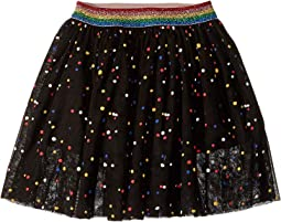 Amalie Multicolor Polka Dot Tulle Overlay Skirt (Toddler/Little Kids/Big Kids)