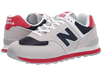 New Balance Classics ML574v2 (Rain Cloud/Team Red) Men