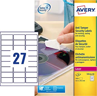 avery tamper proof labels